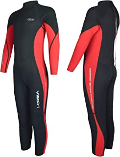 Hevto Wetsuits Kids and Youth Vigor 3mm Neoprene Full Suits Long Sleeve Surfing Swimming Diving Swimsuits Keep Warm Back Z...