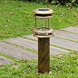 Césped para exteriores Bolardo redondo solar Luz LED para pilares Impermeable IP54 Cuadrado Comunidad Pasillo Decoración Villa Patio Hierro fundido Acrílico Forma de lámpara Columna Poste Linterna