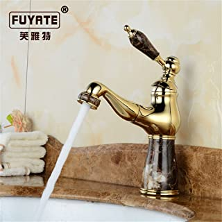 Hlluya Professional Sink Mixer Tap Kitchen Faucet The Jade Pull Faucet Retro-Copper Cold Water wash-Basin Scale on The Jewel faucets