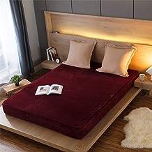 Supermjukt lakan,Höst och vinter enfärgad lakan varm madrassskydd-F_180 * 200 * 25cm,Mjukt lakan
