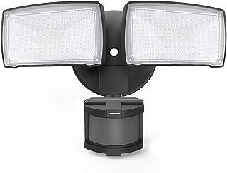 LEPOWER 28W LED Security Lights Motion Sensor Light Outdoor, 3000LM Motion Security Light, 5500K, IP65 Waterproof, 2 Head Motion Detector Flood Light for Garage, Yard, Entryways (Not Solar Powered)