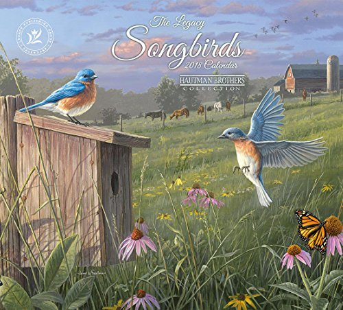 Legacy Publishing Group 2018 12-Month Wall Calendar, Songbirds