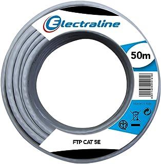 Electraline 101843 Ethernet Cavo di Rete FTP cat5E, 50 m