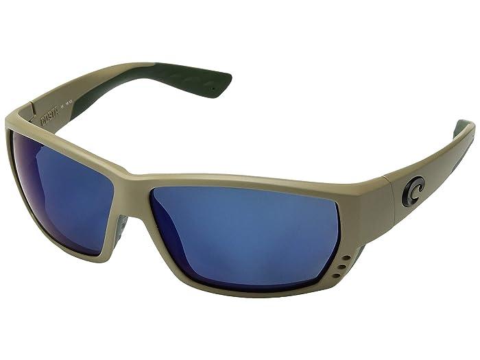 Costa  Tuna Alley (Sand/Blue Mirror 580P) Fashion Sunglasses