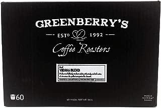 Greenberry's Coffee Co. - Vienna Blend K-Cup - Bold, Fresh, 100% Arabica, Medium Roast Beans, 60 Count