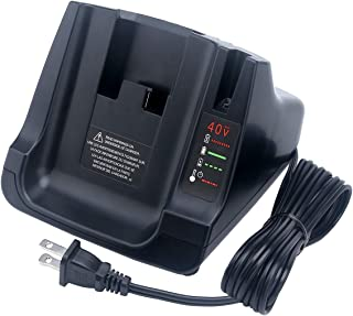 Biswaye Battery Charger for Black+Decker LCS36 LCS40 40V MAX Fast Charger, Charges Black & Decker 36V 40V Max Li-ion Battery LBXR36 LBX36 LBXR2036 LBX1540 LBX2040 LBX2540