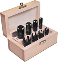 8 Piece Deluxe Plug Cutting Kit BY PEACHTREE WOODWORKING PW925