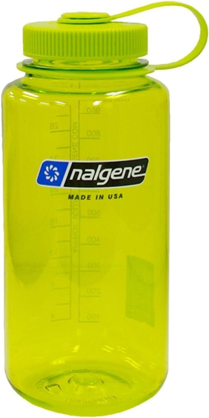 Nalgene BPA Free Tritan Wide Mouth Water Bottle, 1-Quart, Spring Green - 2 Count