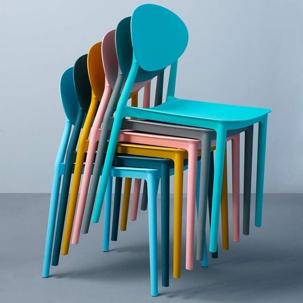 Dossier Chaise de Salle à Manger Chaise de réception Ménage Paresseux Loisir Restaurant Familial Office Café Chaise en Plastique (Color : D) I