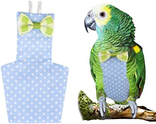 FLAdorepet Cockatiel Parrot Bird Diaper Nappy Flight Suit with Waterproof Liner Pet Bird Macaw Clothes