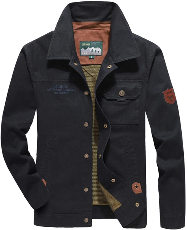 Cotton Men's Bomber Jacket Parka Coat Men Winter Thick Warm Fleece Fur Collar Coat