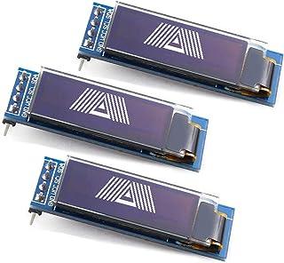 WayinTop 3PCS 0.91 inch OLED Display Module IIC SSD1306 128x32 OLED Screen Driver DC 3.3V~5V for Arduino ESP32 ESP8266 AVR...