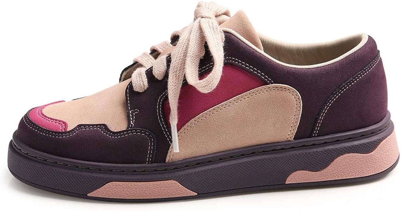 Turnschuhdamen Beiläufiger Lace Up Up Up Skateboard Beschuht Flache Atmende Niedrige Schuhe Der Art Und Weise Lila  ba1b5d
