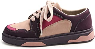 Sneakers Ladies Casual Lace up Skateboard Shoes Fashion Flat Breathable Low Shoes Purple