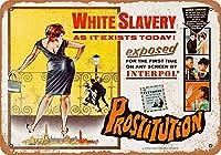 1965売春白奴隷映画金属看板レトロな壁の装飾ティンサインバー、カフェ、家の装飾