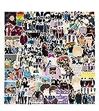 DIWSO Pegatinas de One Direction 50 Piezas Pegatinas de Vinilo Impermeables para Portátil, Parachoques, Monopatín, Botellas de Ordenadores, Teléfono