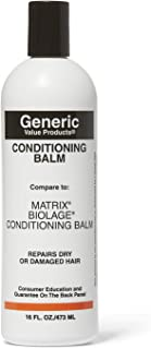 Generic Value Products Conditioning Balm Compare to Matrix Biolage Conditioning Balm