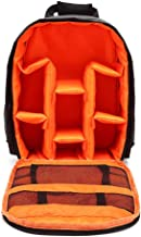 Camera Case, Camera Bag with Waterproof, Adjustable Velcro, Shockproof, 9x4.33x12.6 inch, SLR/DSLR Camera Backpack for Sony Canon Nikon Lens, Flash, Mirrorless Camera and Other Accessories(Orange)