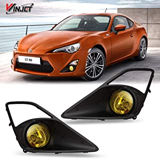Winjet WJ30-0339-12 OEM Series for [2012-2016 Toyota 86 Scion FR-S] Yellow Driving Fog Lights + Switch + Wiring Kit