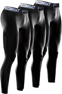 Quick-Dry Men's Compression Pants Soft Training Running Tights - 3 Packs