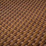 Telo in rattan sintetico (PE) per terrazza e balconi, color cognac, altezza 0,9m (vendita al metro)