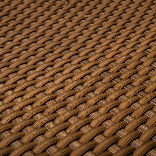 Brise-vue en rotin PE pour terrasse Cognac 0,9 m de large (vendu au mètre)