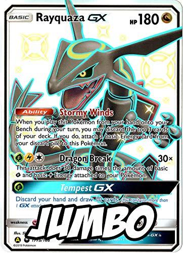 Shiny Rayquaza GX - Jumbo Card - 177a/168 - Hidden Fates Exclusive