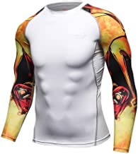 Herren Pullover Weiß Sport Funktionsshirt Langarm Kompressionsshirt Schnelltrocknend Laufshirt Figurformendes Bauchweg Männer Sport Fitness Trainingsshirt Slim Fit Base Layer T-Shirt