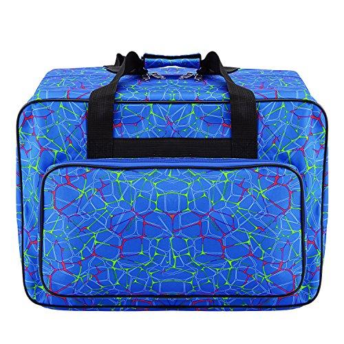 Macchina da cucire Busyall custodia da trasporto Tote bag-padded Storage custodia di trasporto con tasche e manici Blue