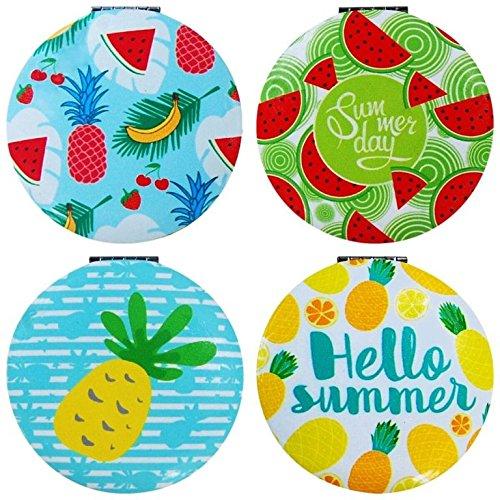 DISOK - Espejo Hello Summer Redondo - Espejos para Detalles de Bodas, Comuniones y Bautizos. Espejitos Baratos y Originales