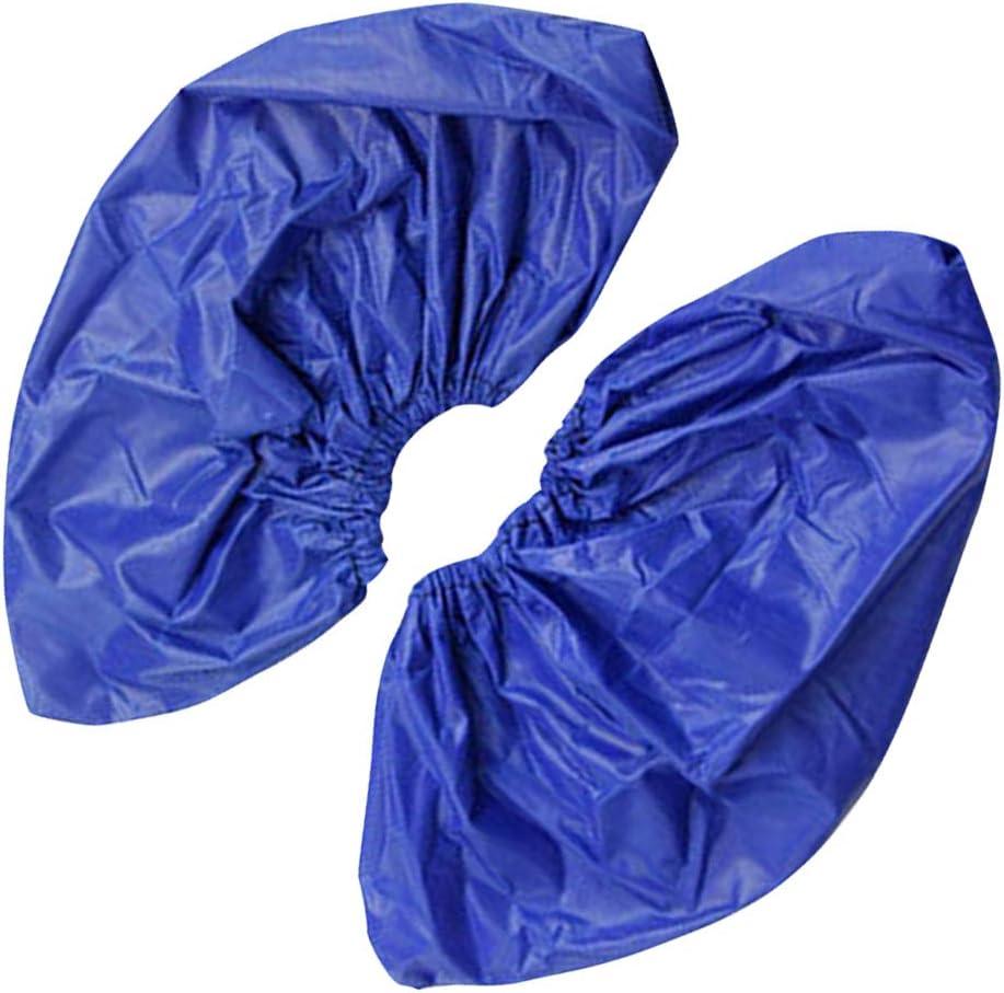 royalr 1 Paire r/éutilisables Couvre-Chaussures imperm/éables Overshoe lavables Chaussures /étanches Couvre-Chaussures Sneakers Bottes Housse de Protection Bleu