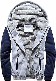 SHOWNO Men Winter Horns Buckle Thickened Fleece Lined Hooded Down Coat Jacket Overcoat