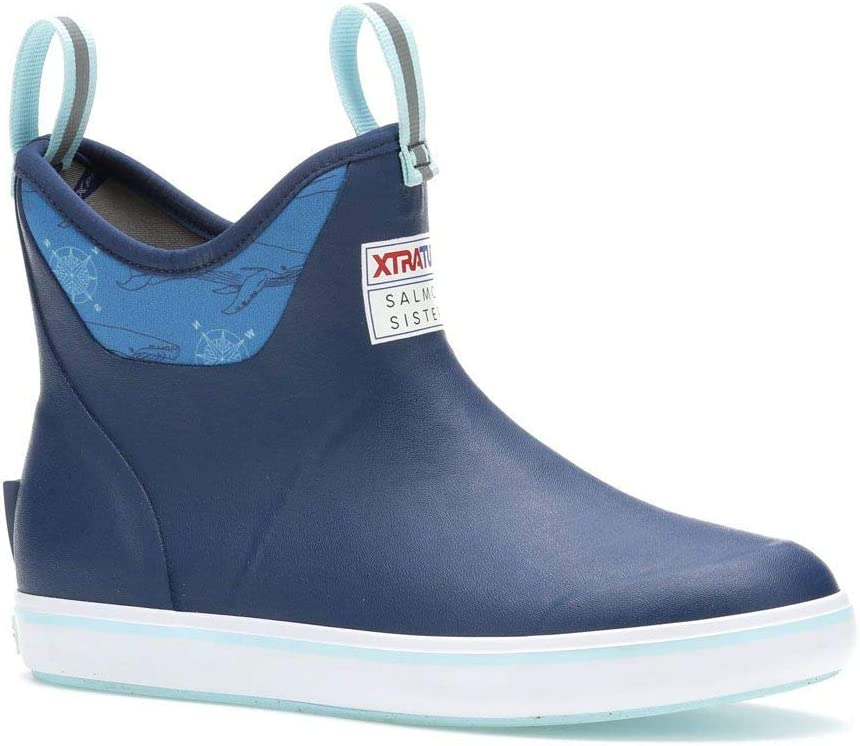 Xtratuf WOMEN'S SALMON SISTERS 6 IN Super sale period limited P BOOT NAVY ANKLE DECK Free shipping WHALE