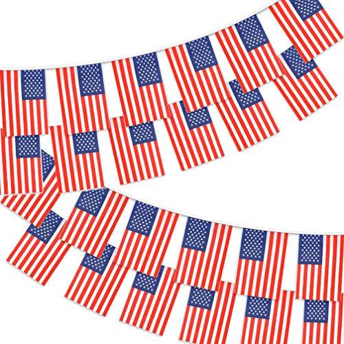 DISKY Nationalflaggenschnur, 10 m, mit 30 Flaggen, Stoff-Flagge, Event-Banner