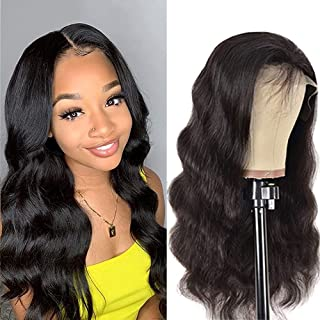 Sponsored Ad - Glueless Body Wave Wigs Human Hair Lace Front Wigs Brazilian Virgin Human Hair 13x4 Lace Frontal Wet and Wa...