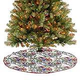 Falda de árbol de Navidad de lujo, flores silvestres, ramo de flores silvestres, decoraciones de fiesta de Navidad dan a tu árbol de Navidad un toque extra de diámetro – 36