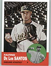 2012 Topps Heritage #452 Fautino De Los Santos NM-MT SP Oakland Athletics Official MLB Baseball Card