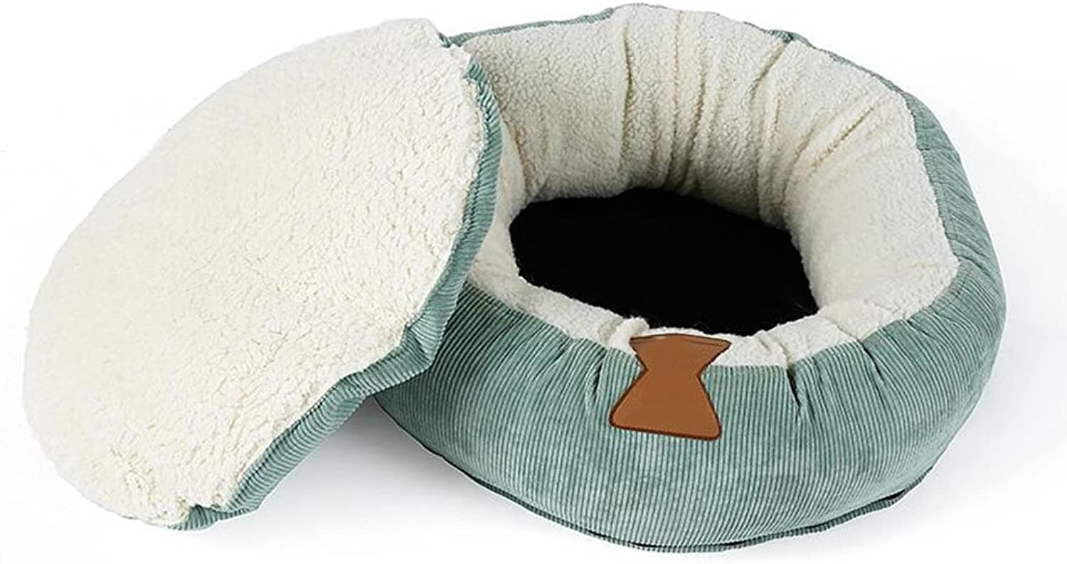 MM Beds Pet's Nest Cat's Nest Removable Cat Bed Sofa Medium And Small Kennel Pet Supplies (color   GREEN)