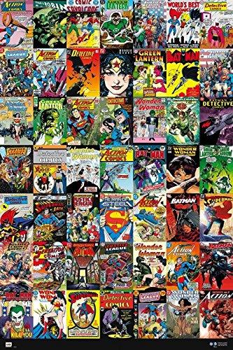 POSTER STOP ONLINE DC Comics - Comic Poster/Print (49 Comic Covers Collage - Batman, Green Lantern, Superman, Wonder Woman.) (Size 24' x 36')