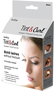 Godefroy Eyelash Tint & Curl For Bold Lashes, 6 Ounce, Black