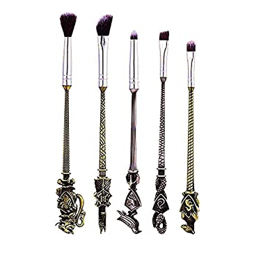 Beauty Makeup Brushes Kit 5pcs Foundation Blending Blush Eyeshadow Face Powder Brush Makeup Soft Fan Brush Foundation Brushes Make Up Tool