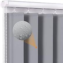 Van hoge kwaliteit Waterdichte verticale jaloezieën grijs, voor badkamer keuken raam blind met vaste fitting, 0,9 m / 1m /...