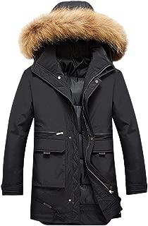 IZHH Mens Thicken Winter Coat Parka Down Jacket Zip Hoodie Sweatshirt Overcoat