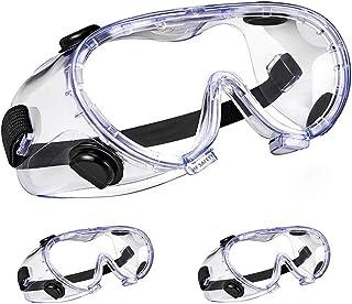 ゴーグル 細菌飛沫対策眼鏡 防花粉 保護メガネ 軽量 透明 調整可能 防曇 耐衝撃 風砂を防ぐ 防塵