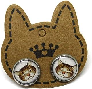 Orecchini Gatti - Orecchini acciaio - Orecchini donna Gatto - Orecchini a lobo - idea regalo gattara