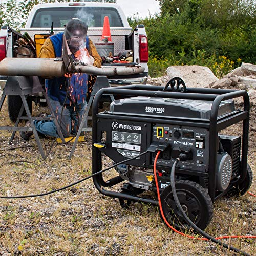 Westinghouse WPro8500 Super Duty Industrial Portable Generator, 8500 Rated Watts and 11500 Peak Watts, Gas Powered, Electric and Remote Start, OSHA and CARB Compliant