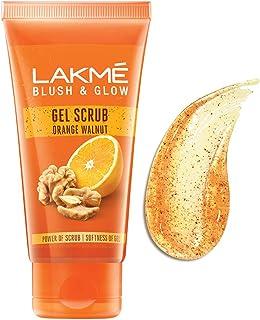 Lakme Blush & Glow Orange Walnut Gel Scrub, 50 g