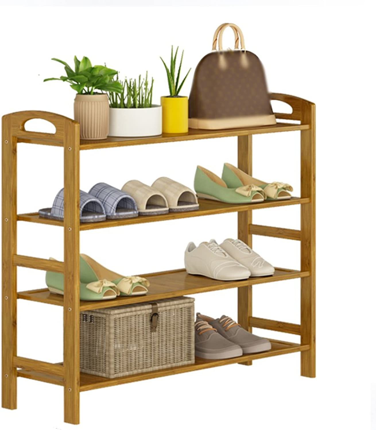 ZHIRONG shoes Rack, Bamboo shoes Rack Organiser-4 Tier-16 Pairs Of shoes-Multifunctional Storage Shelf-Good For Hallway Living Room Bedroom-502668CM   602668CM   702668CM   802668CM   902668CM