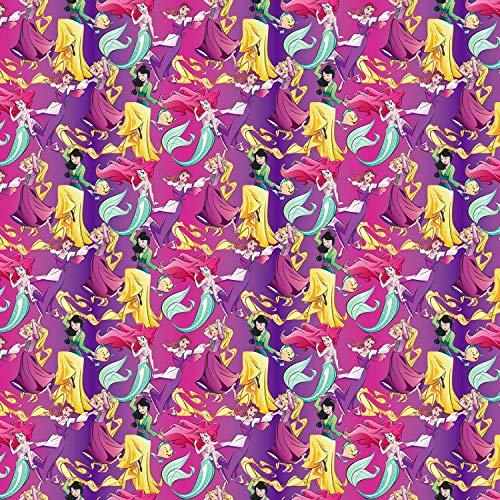 Springs Creative Tela de princesa Disney SC282 de 0,5 m, 50 cm x 110 cm, 100% algodón