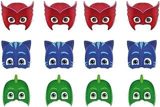 PJ Masks 0551, Pack 12 caretas, Fiestas y cumpleaños